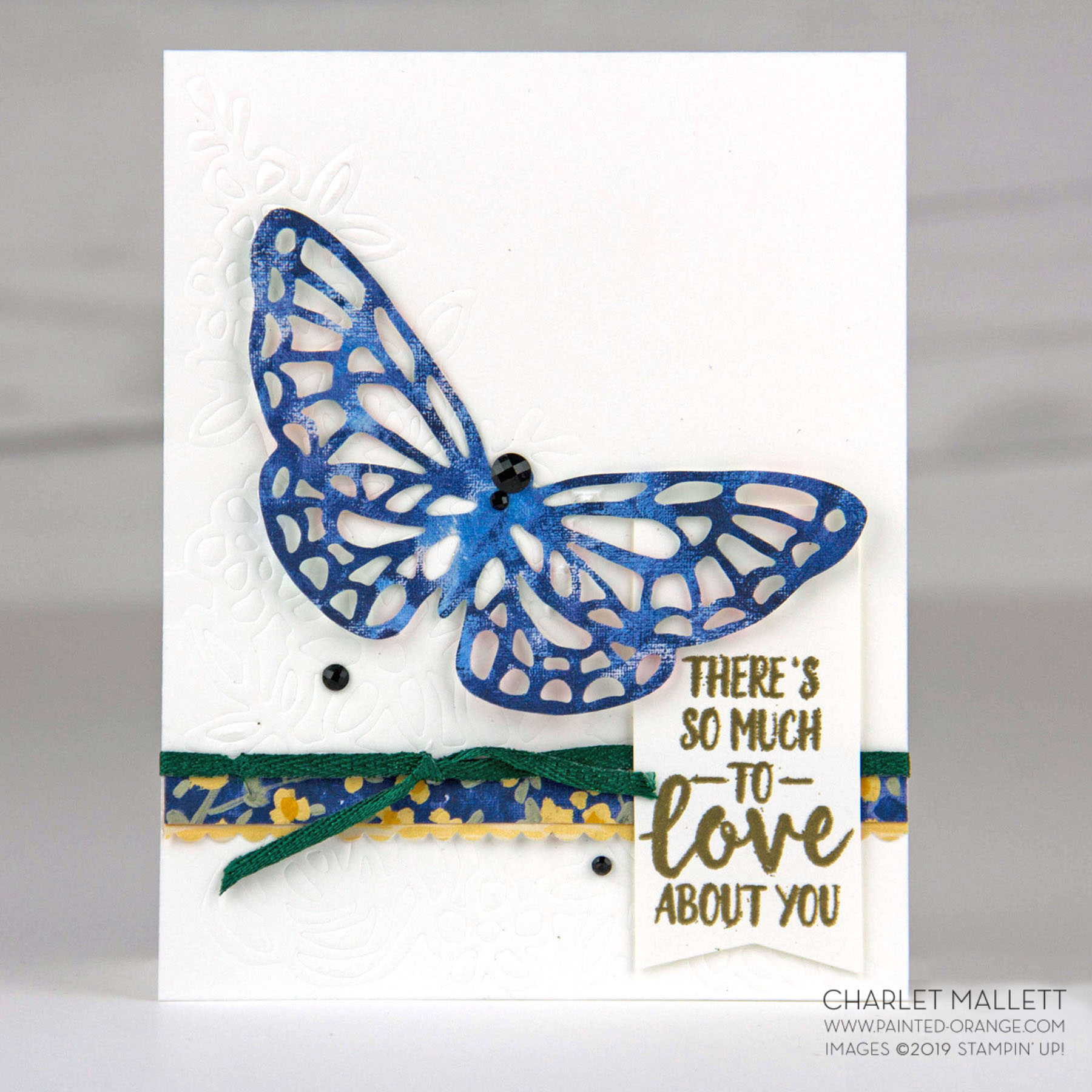 Abstract Impressions Butterfly Card - Charlet Mallett, Stampin' Up!