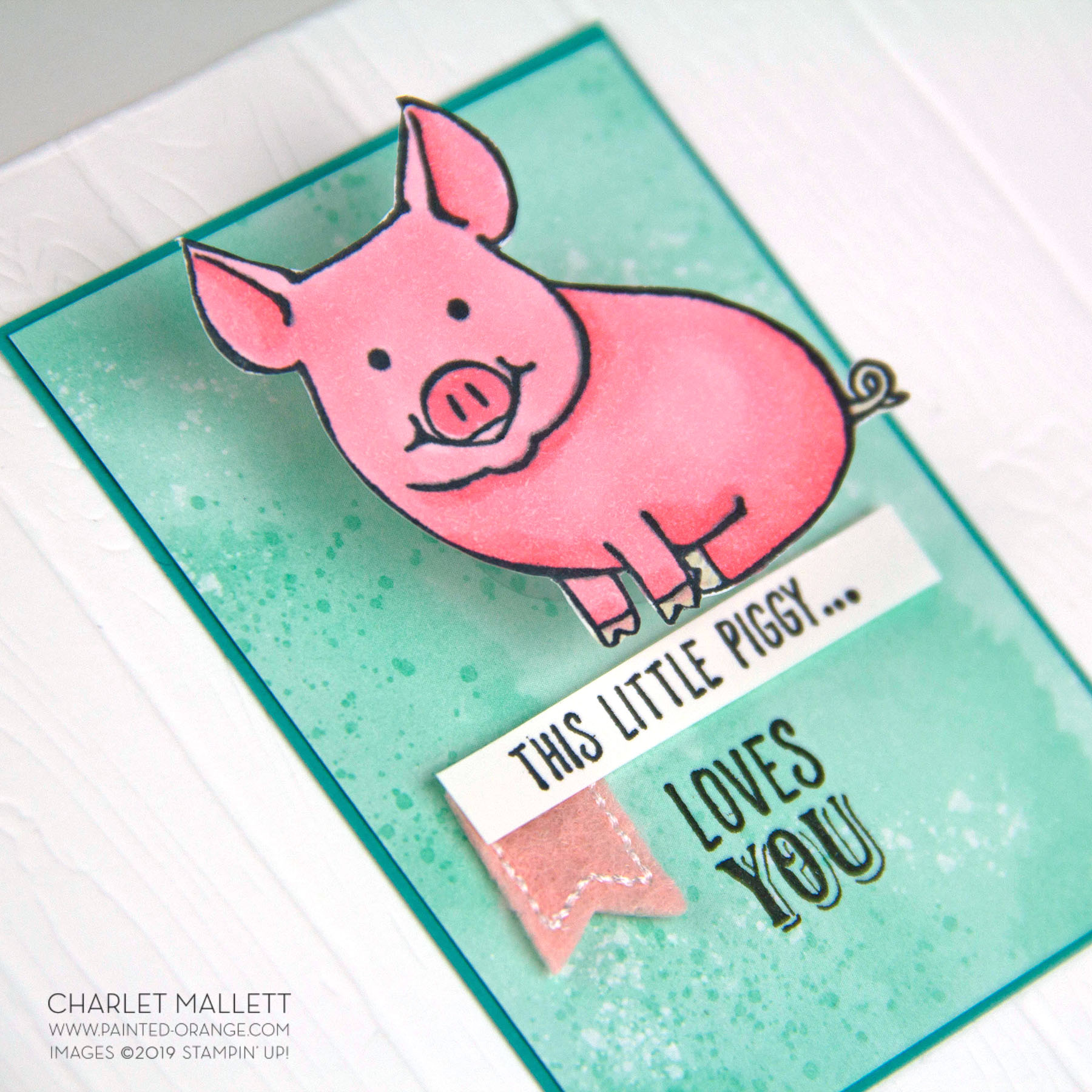 This Little Piggy card - Charlet Mallett, Stampin' Up!
