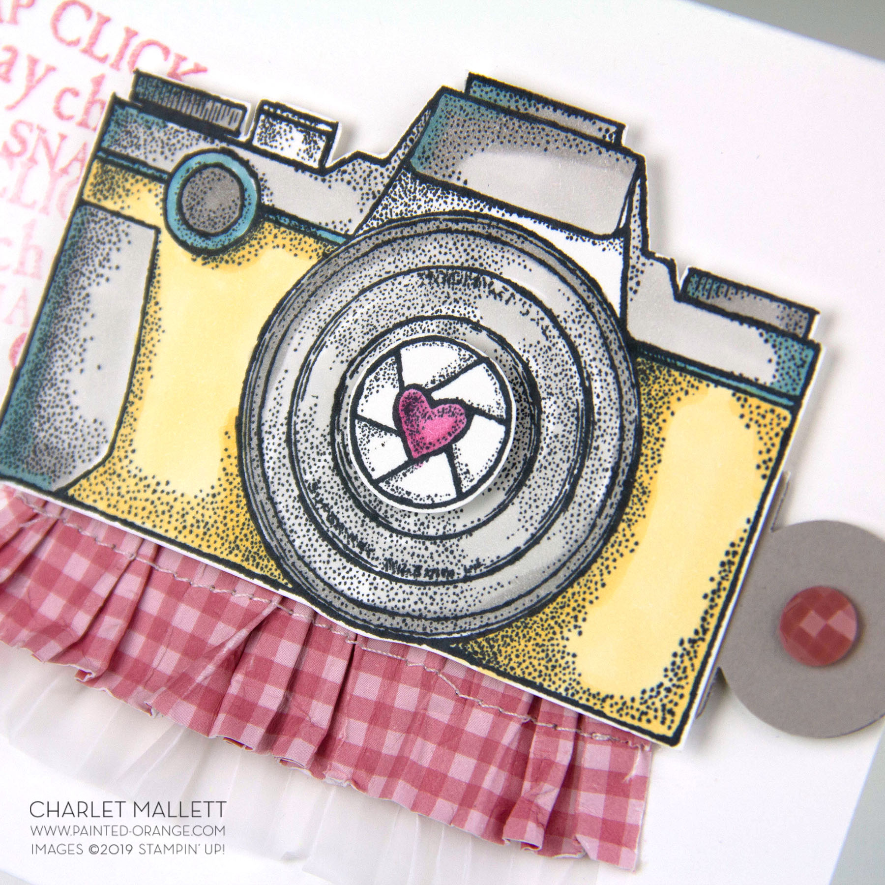Capture the Good Camera Card - Charlet Mallett, Stampin' Up!