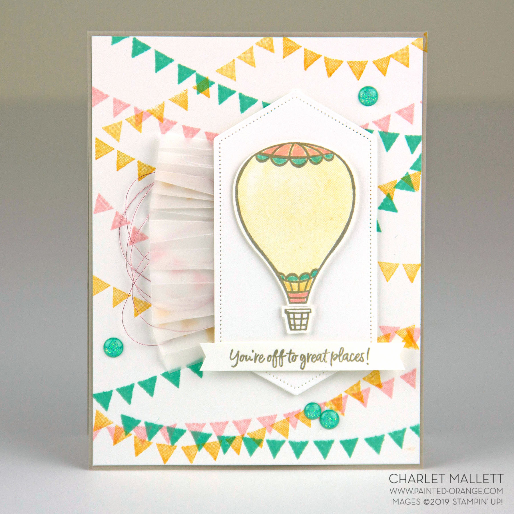 Above the Clouds Graduation card - Charlet Mallett, Stampin' Up!
