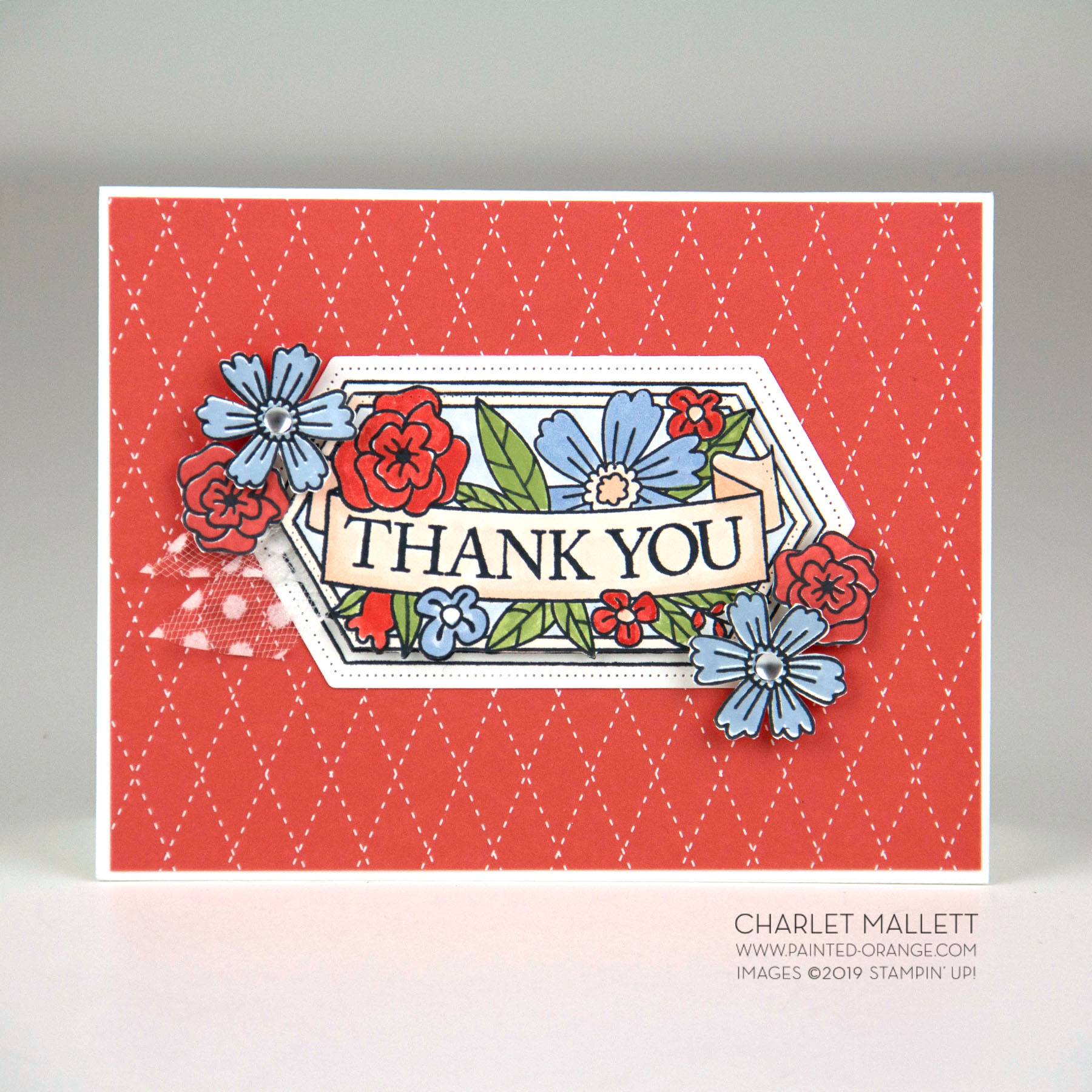 Believe You Can - Thanks Card - Charlet Mallett, Stampin' Up!