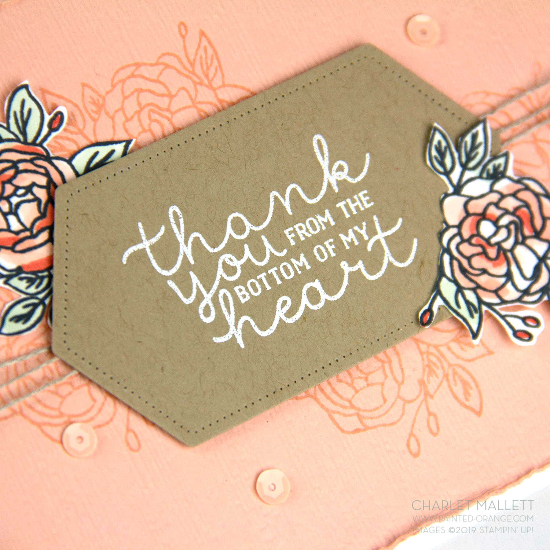 Bloom & Grow Thank You card - Charlet Mallett, Stampin' Up!