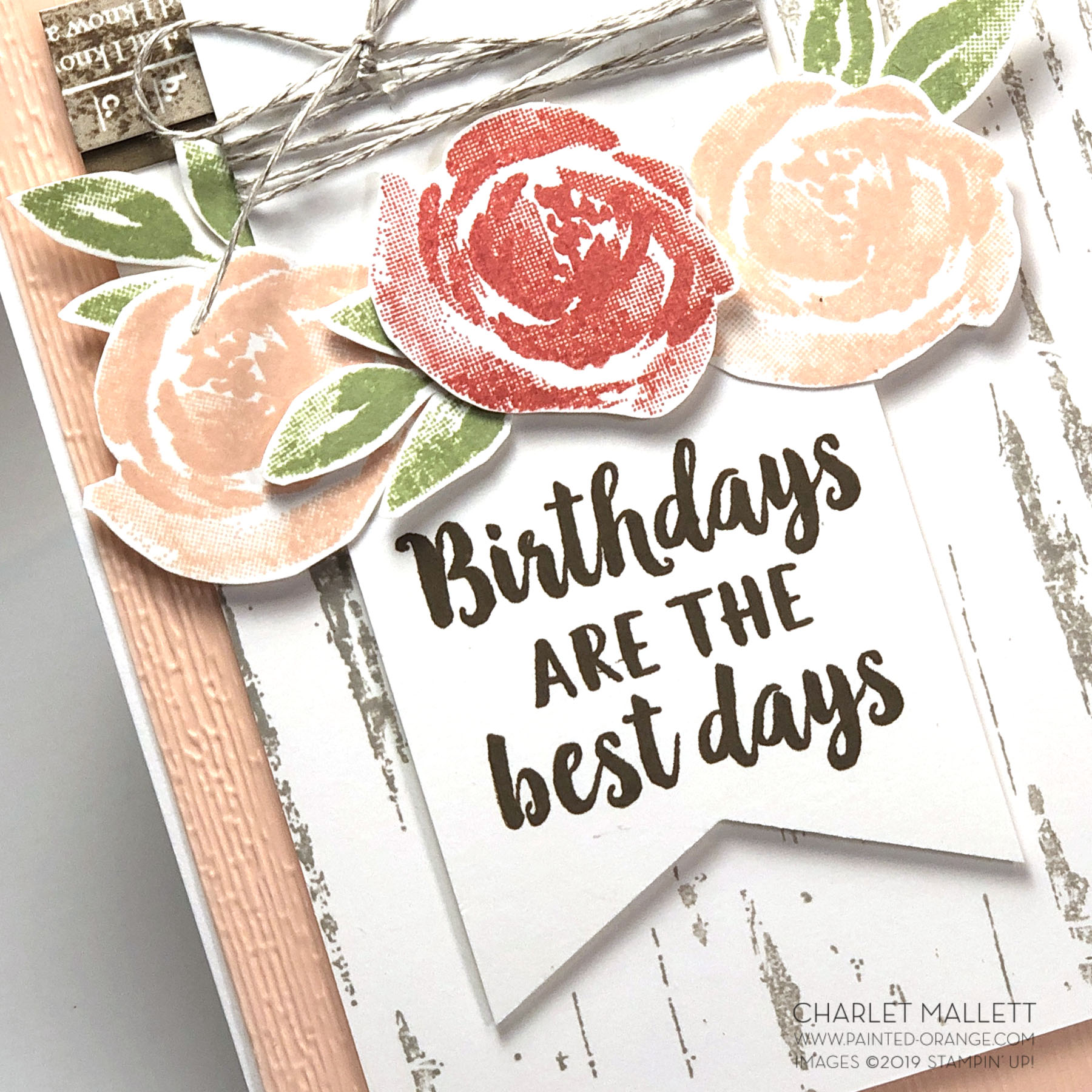 Birch and Beautiful Friendship Birthday card - Charlet Mallett, Stampin' Up!