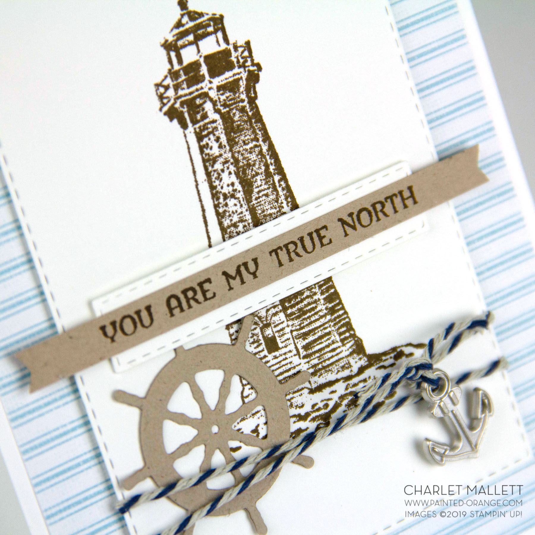 Sailing Home - Anniversary card - Charlet Mallett, Stampin Up!