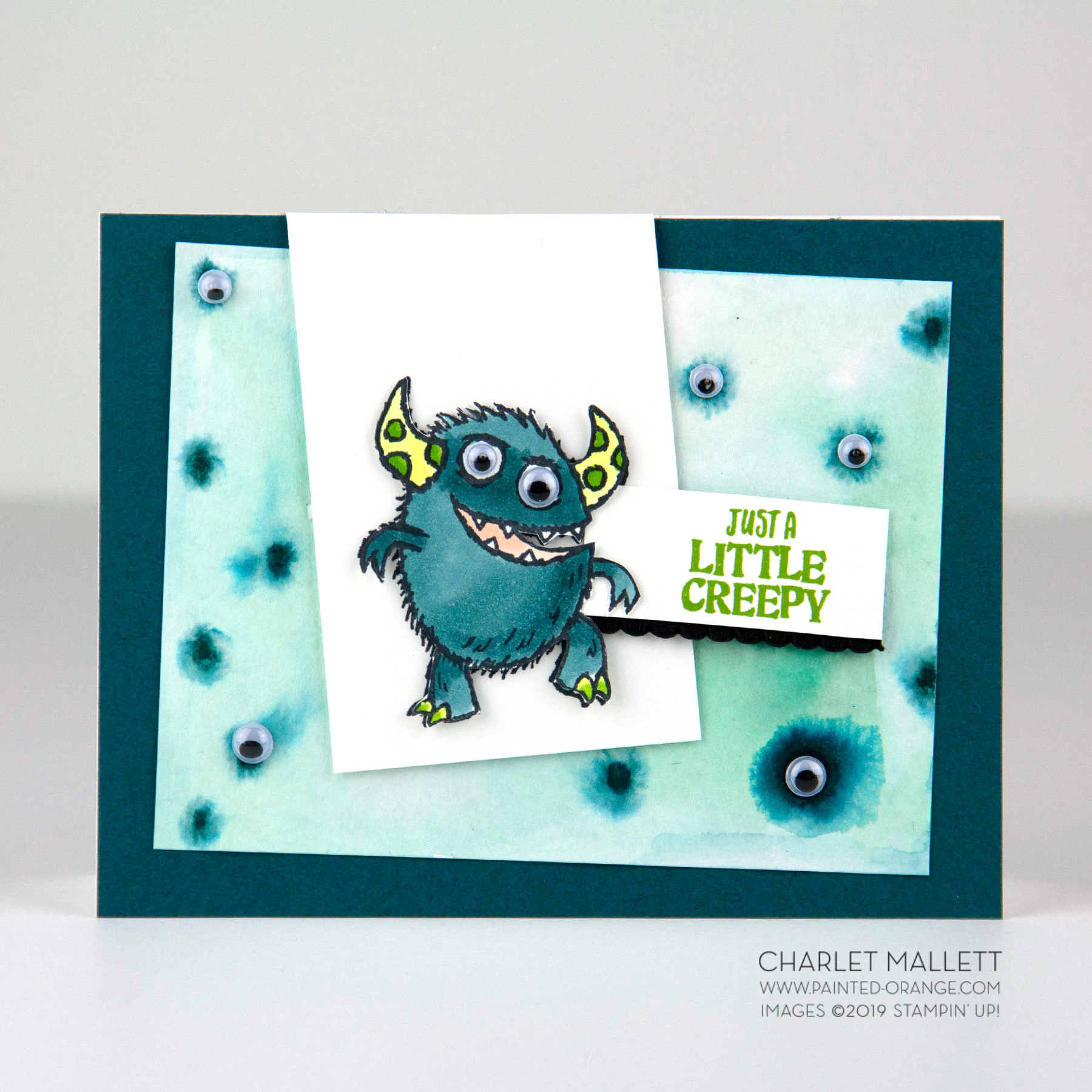 Boo To You Creepy Eyeball card - Charlet Mallett, Stampin' Up!