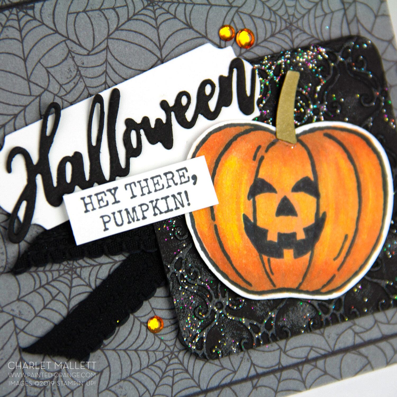 Harvest Hellos Halloween Card - Charlet Mallett, Stampin' Up!