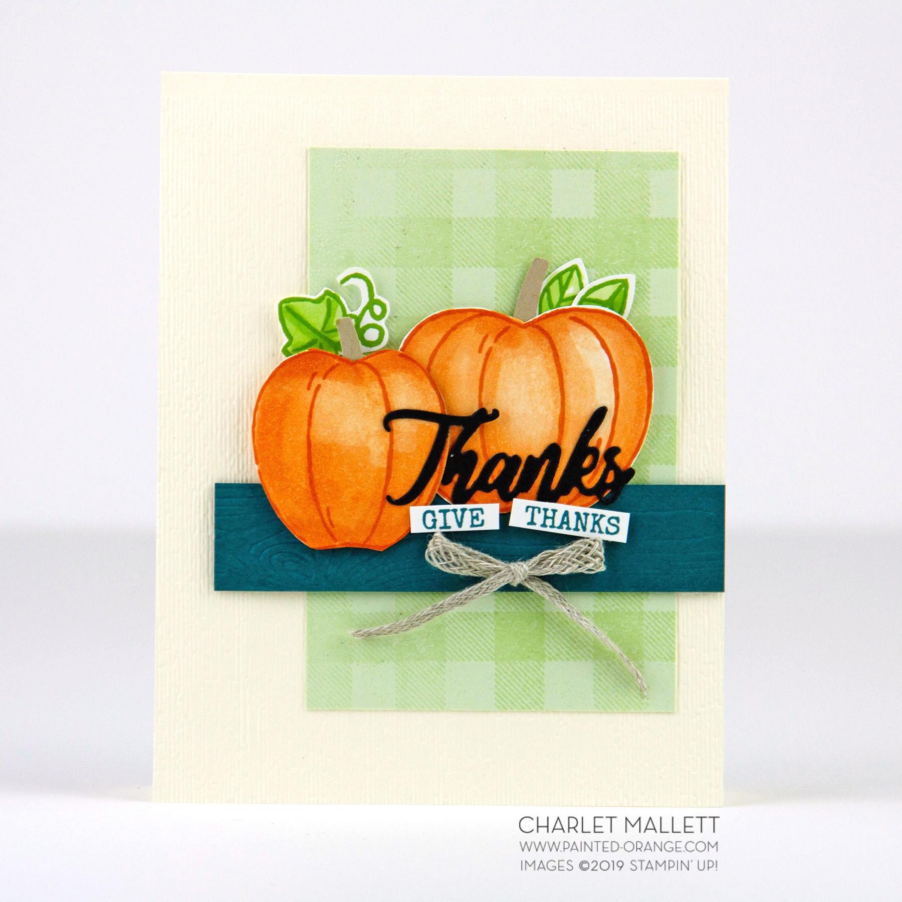 Harvest Hellos Thanks Card -  Charlet Mallett, Stampin' Up!