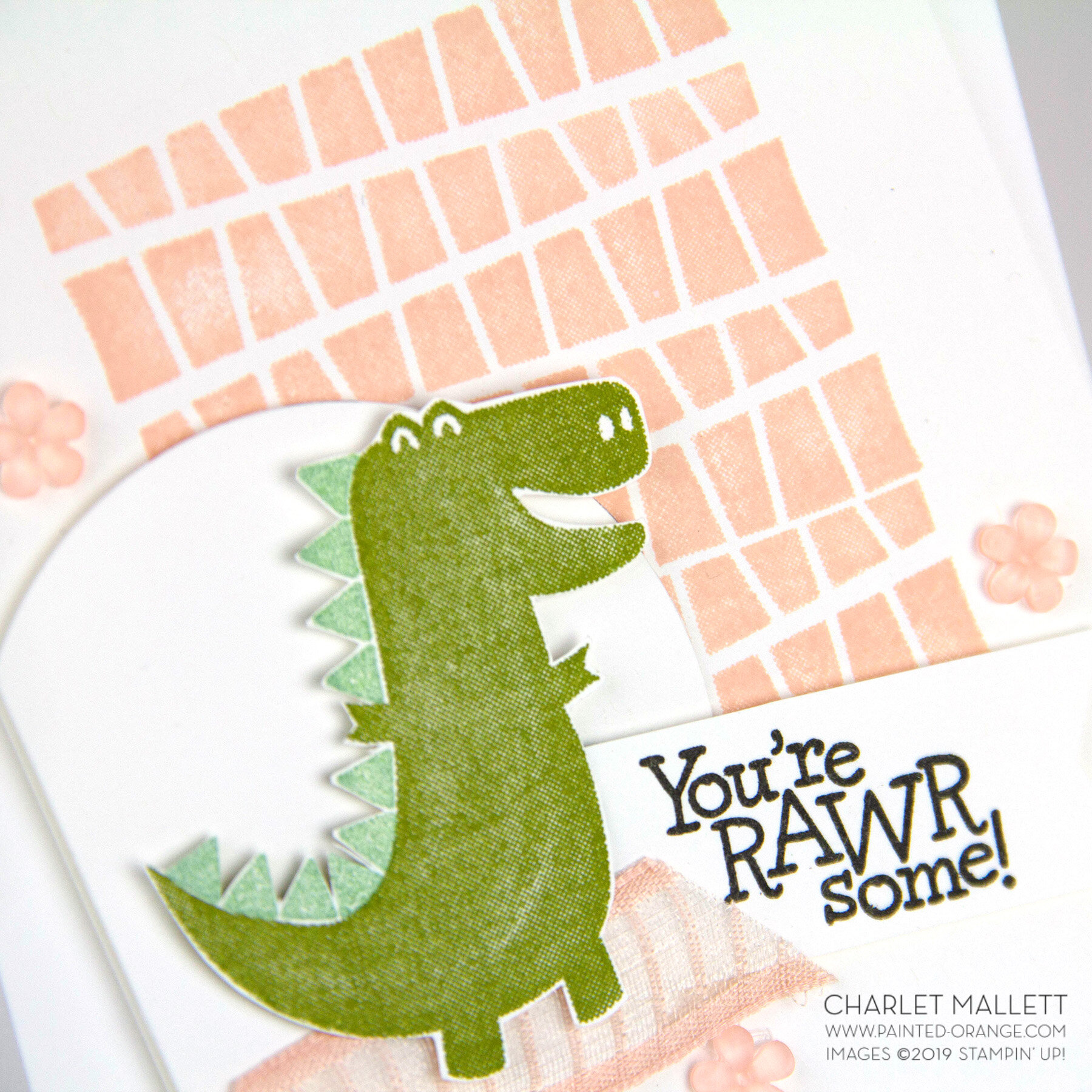 Dino Days Rawrsome Card - Charlet Mallett, Stampin' Up!
