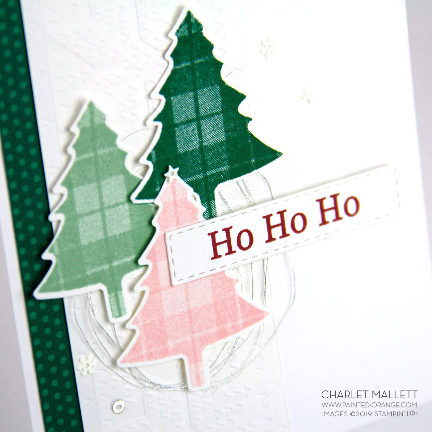 Perfectly Plaid Christmas Tree card - Charlet Mallett, Stampin' Up!