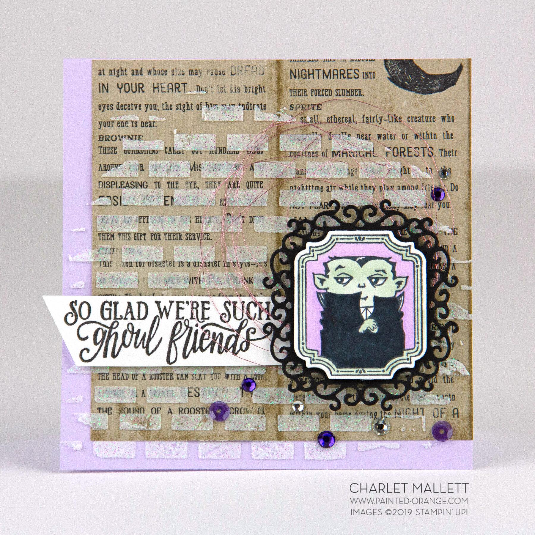 Spooktacular Bacs Halloween Card- Charlet Mallett, Stampin' Up!