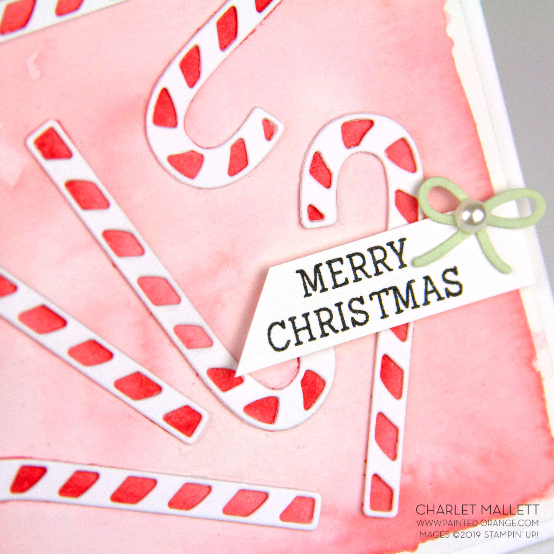 Cup of Christmas Candy Cane card - Charlet Mallett, Stampin' Up!