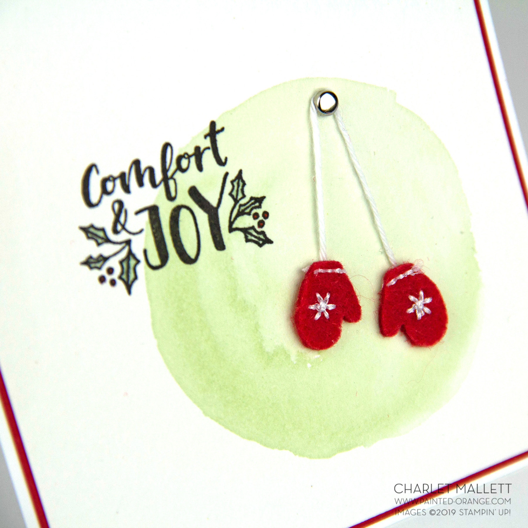 Cup of Christmas Mitten card - Charlet Mallett, Stampin' Up!