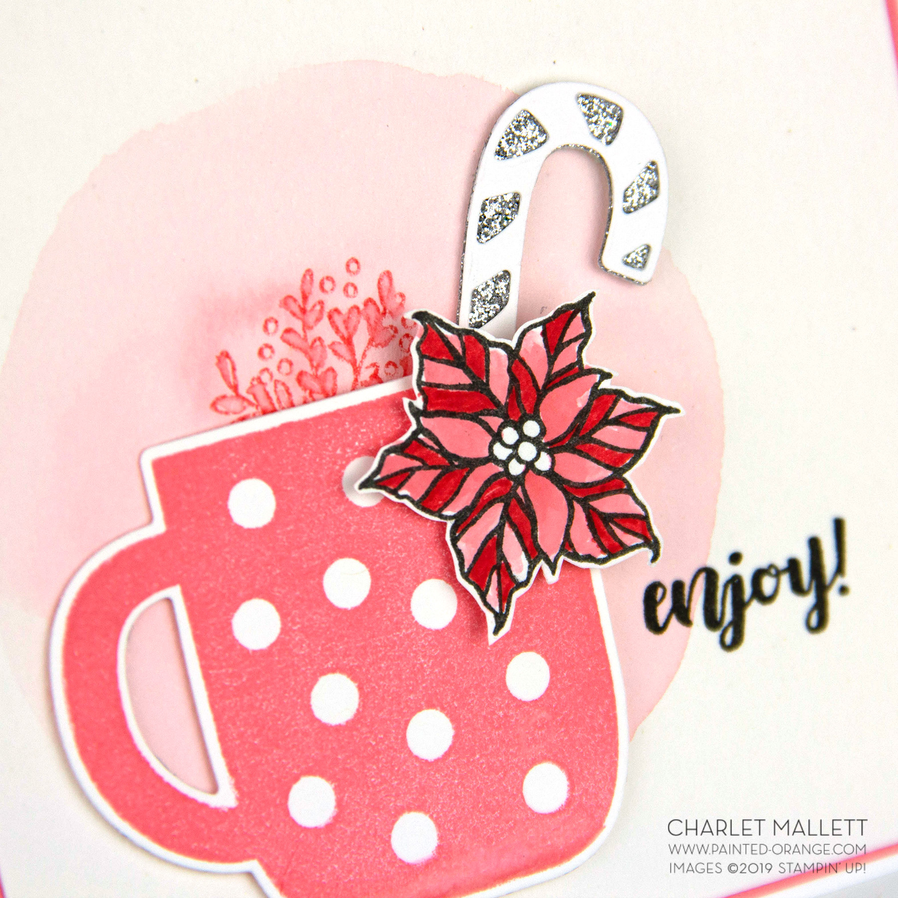 Cup of Christmas card - Charlet Mallett, Stampin' Up!