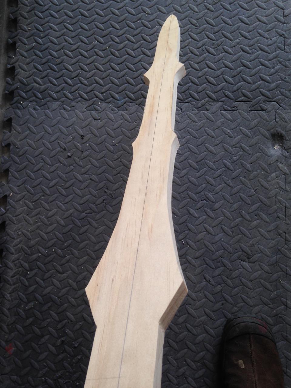 Rough cut with handheld saber saw.