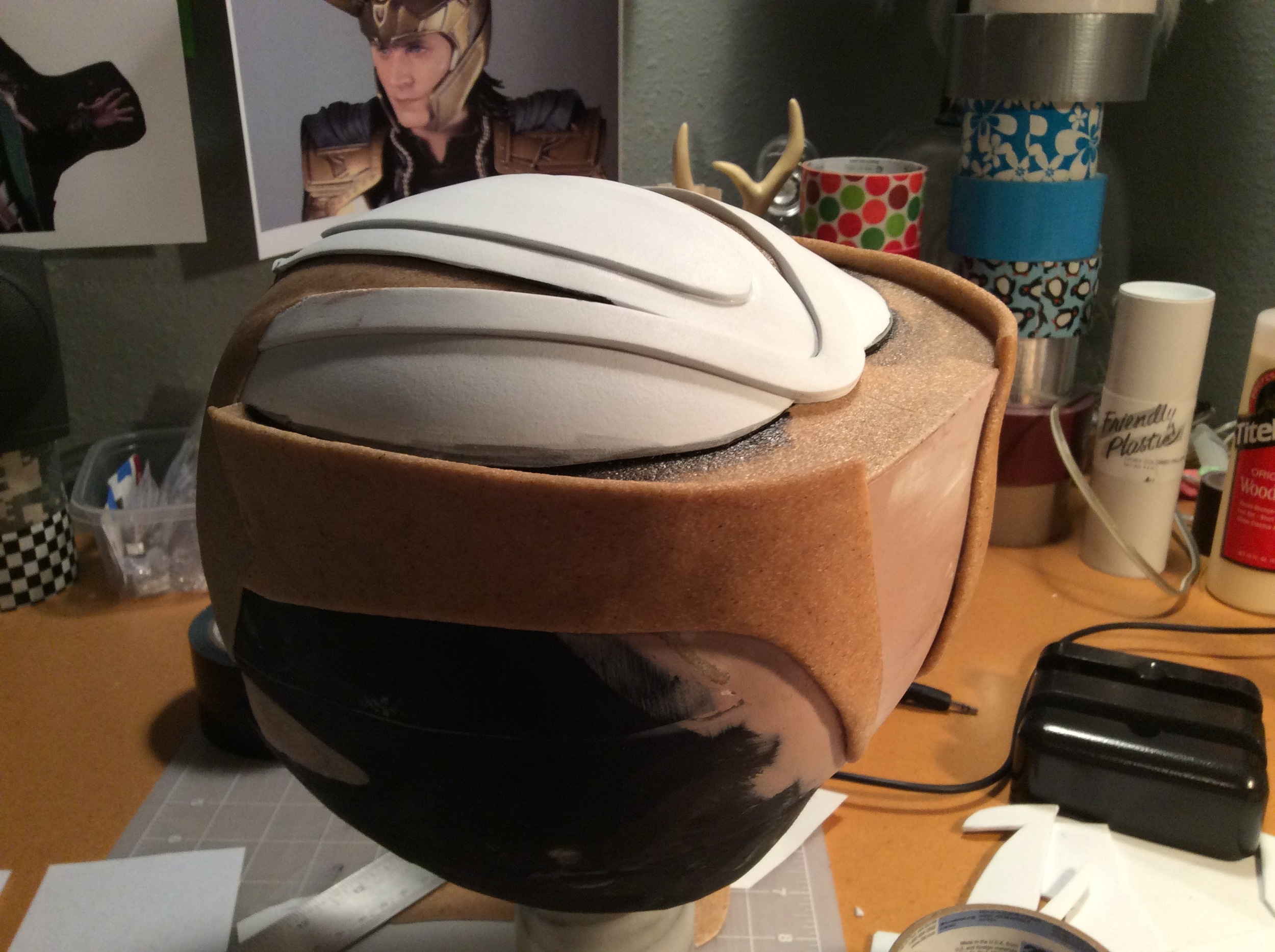 Added more craft foam pieces to the top to mimic the lines.