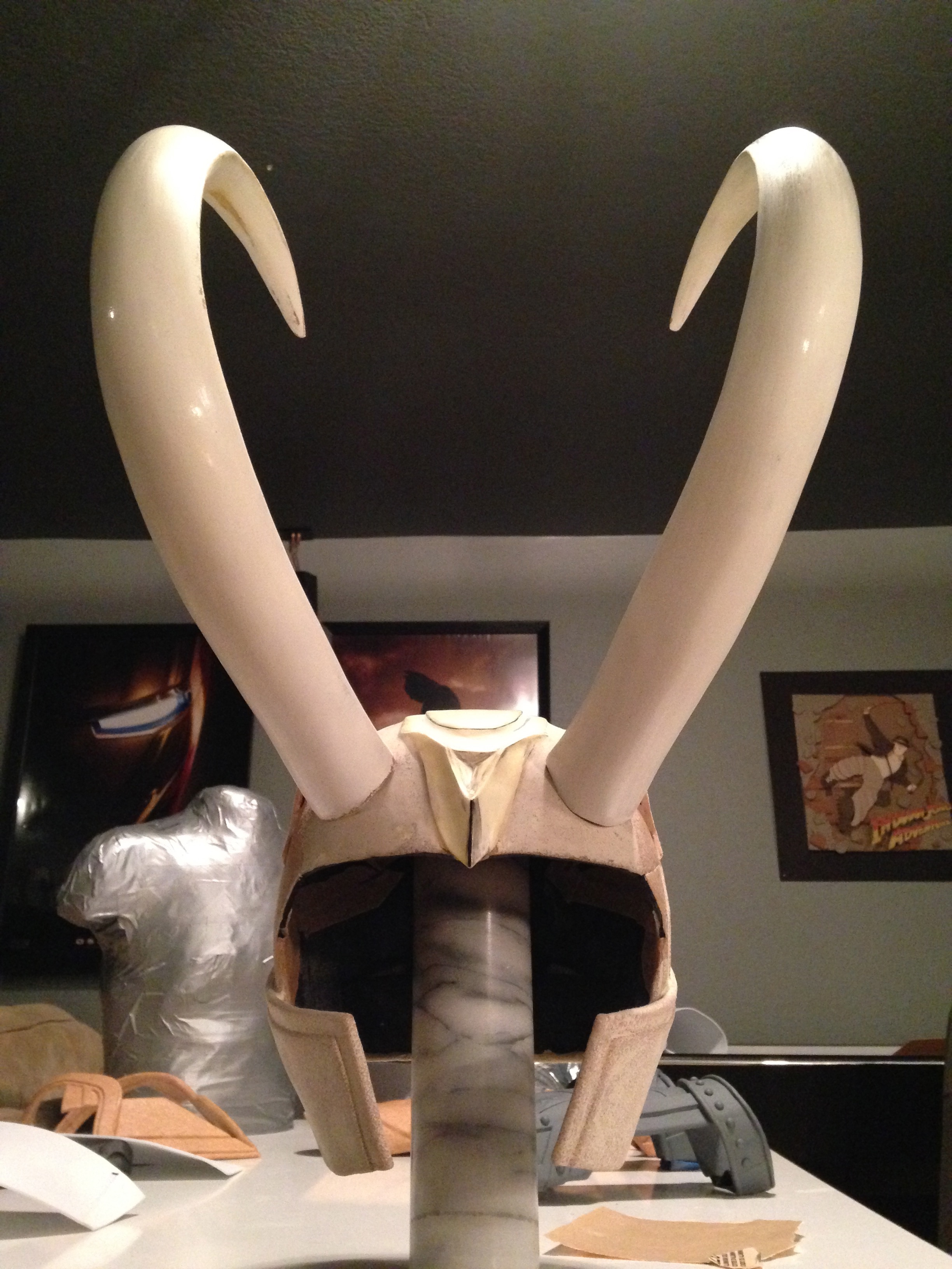 Horns attached.