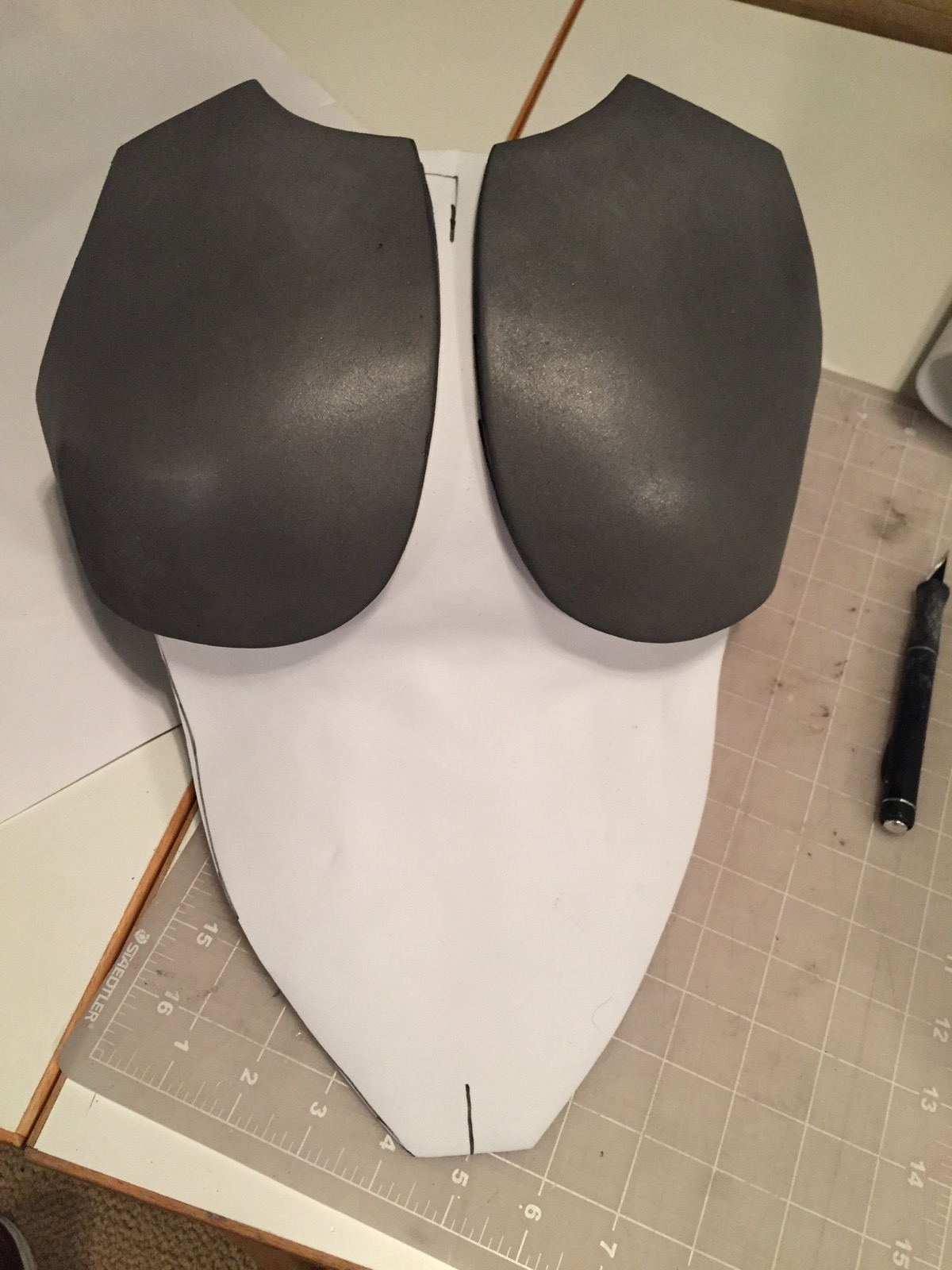 Breast pieces shaped as this is a bit of a redesign due it it being for my daughter.