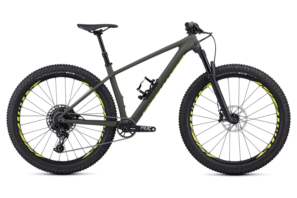 You like fat tires, but really like flying down trails and climbing with your friends too. You don't want all of the squish of a full sprung ride, but a little give in the front is nice from time to time. The Fuse is the hammer you can actually pick up and throw. - specialized fuse