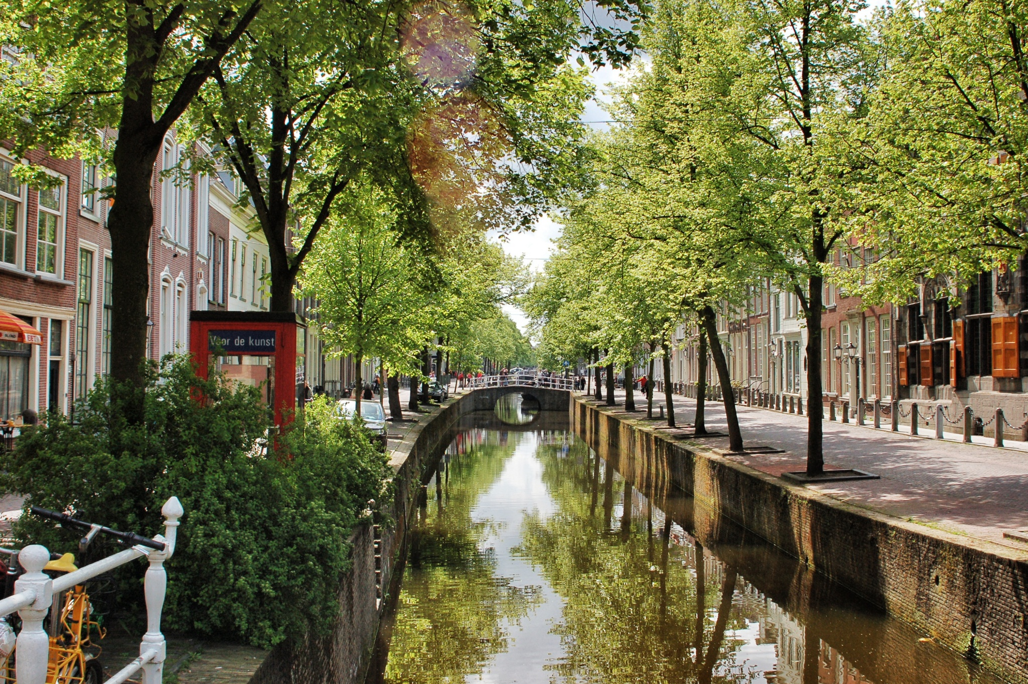One of the many canals in Delft
