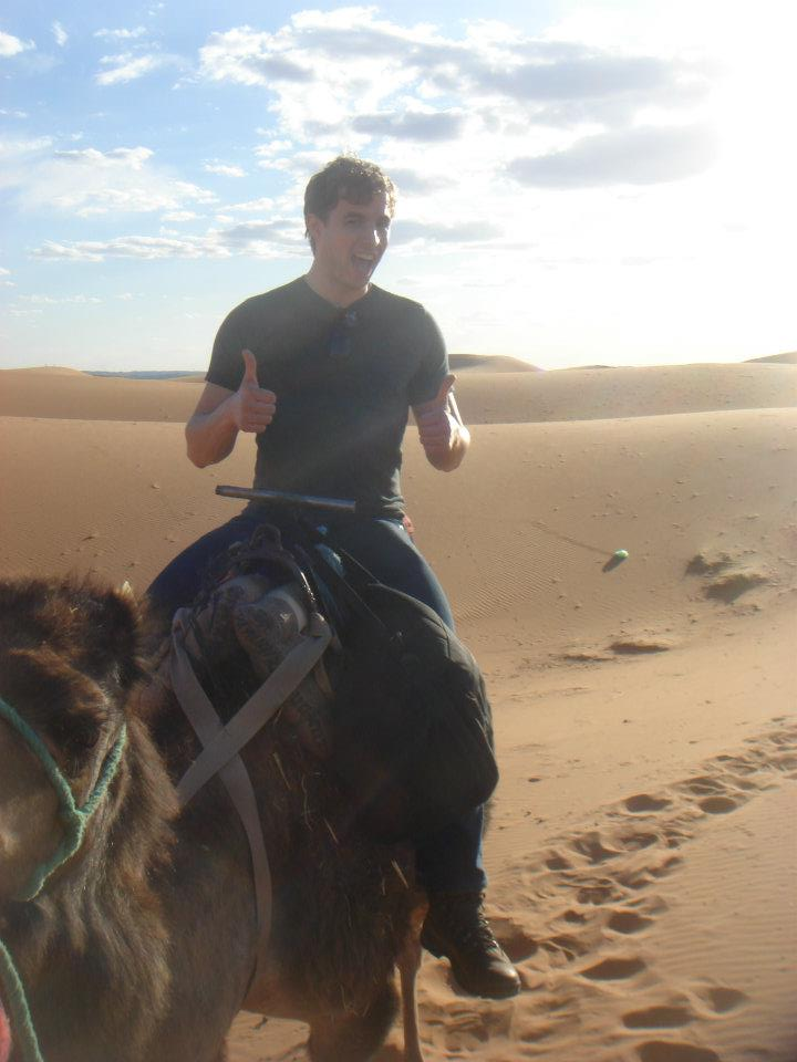 me in 2012 on a camel for the first time