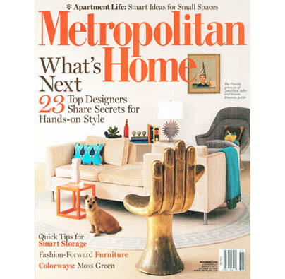 "METROPOLITAN HOME  November 2008, ""Talent Pool"", Written by Fred A. Bernstein; Produced by Linda O'Keeffe; photography by Antoine Bootz, pp. 142-150."