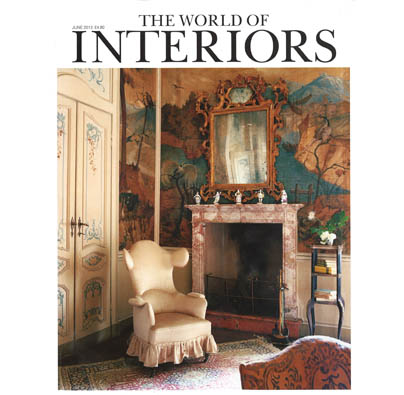 "THE WORLD OF INTERIORS  June 2013, ""Floor Show"", photography by Anders Gramer. The article features our 'Patina' design for Jab Anstoetz's collection ""Characters: Carpets with Soul.""  pp. 46."