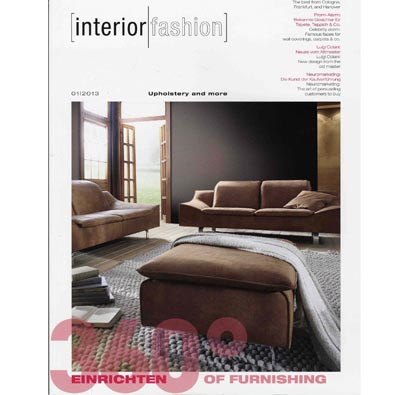 "INTERIOR FASHION (GERMANY)  March 2013, ""360° of Furnishing: Floor treasures from Canada"", Interior Fashion, Germany, pp. 18."