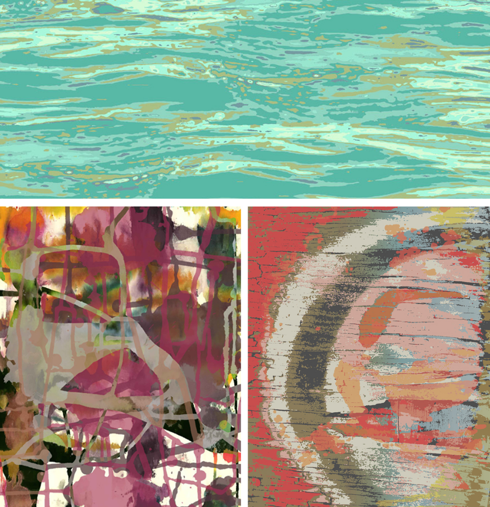 CMI area rug designs using strong clear colours  Art Day concepts byCMIdesigner Tiffany Wu