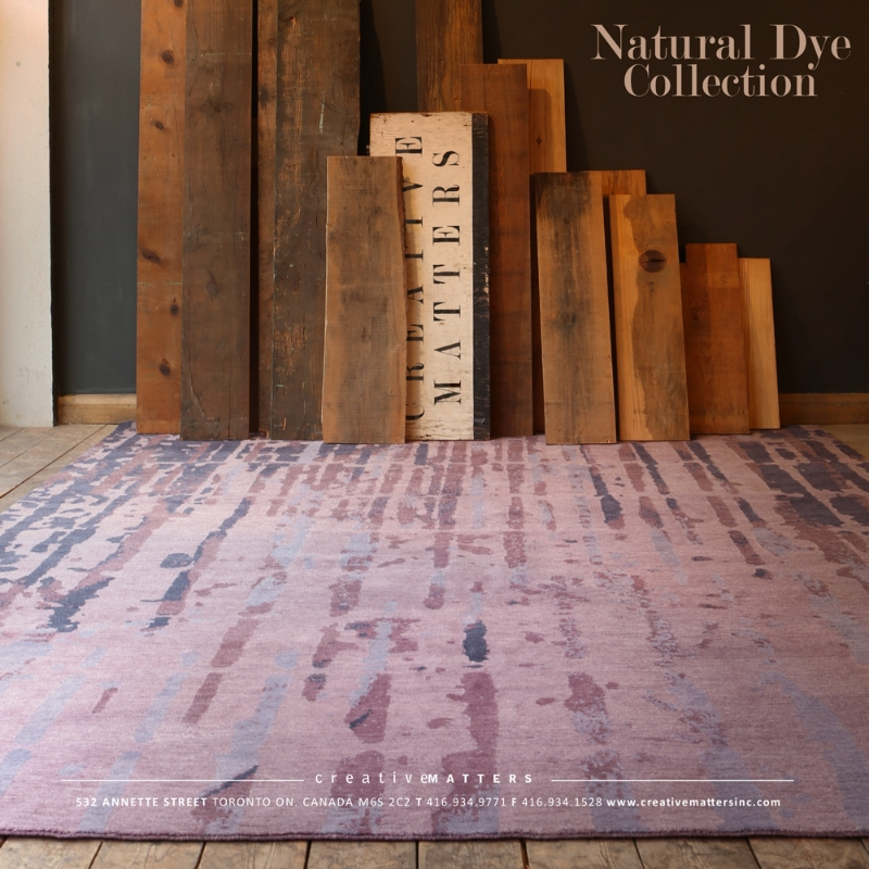Percolate in Mulberry, handknotted in Nepal, 100% organically dyed wool. Carpet designed byCMI designer Ange Yake.