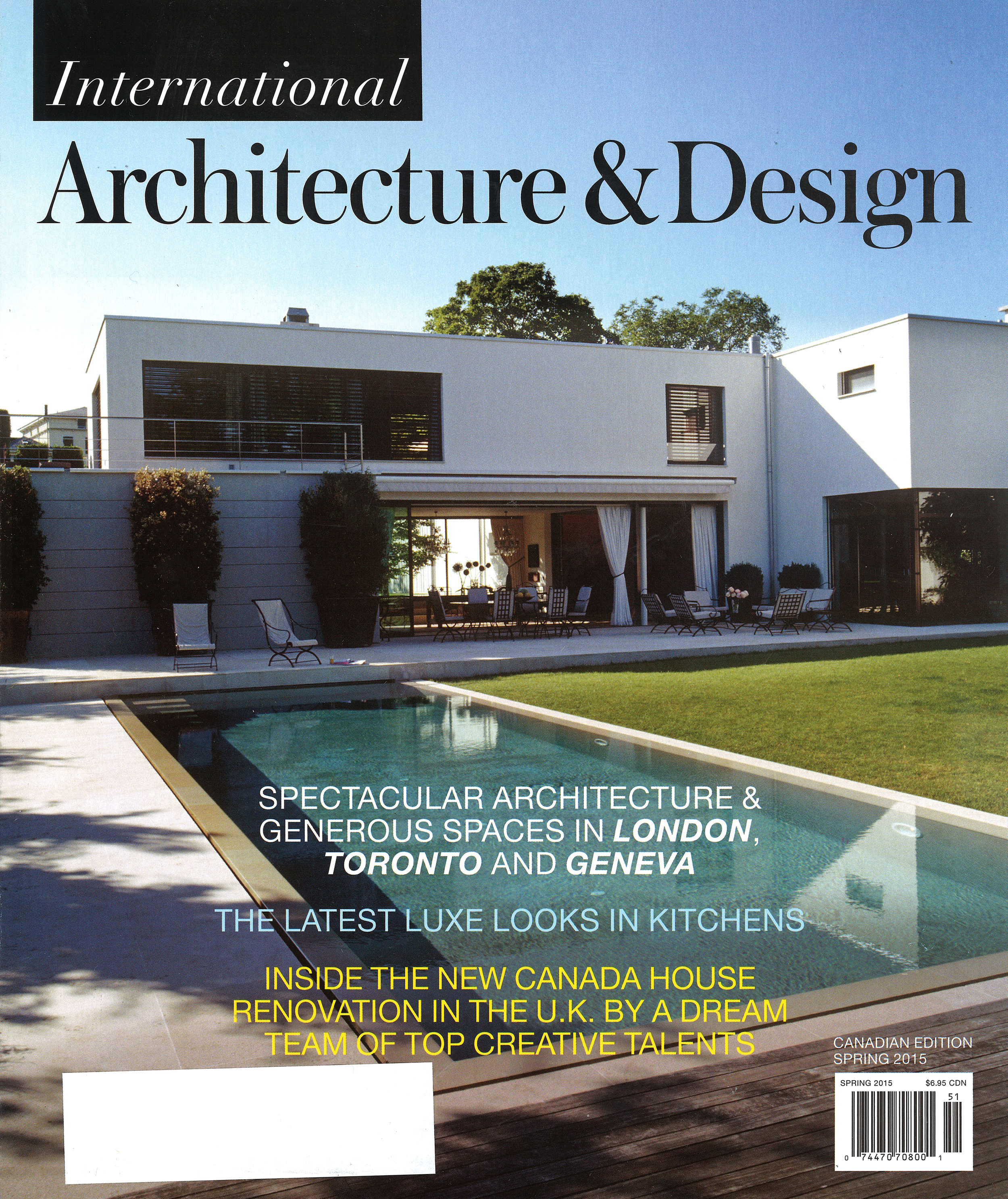 "INTERNATIONAL ARCHITECTURE & DESIGN  Spring 2015, ""Public Face"", Photography courtesy of Canada House. pp. 22-24."