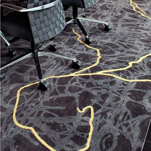 Admire the veins of gold that were handtufted on the Axminster carpet for the head office of a gold mining company.