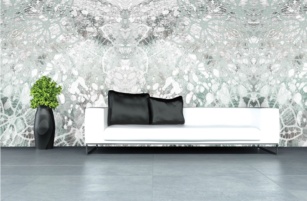 """WALL 011 """"I love the large scale of this modern take on lace. It would be a wonderful way to introduce pattern into a corporate setting."""" Creative Matters designer: Clémence Hardelay"""