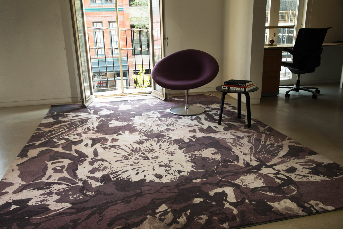 Silverplate - Plum:  A masculine floral?Moody colours lend a mysterious element. Our designers see it excelling in both an office environment and residential applications such as a dramatic bedroom or a sophisticated living room.By Ashley Solymar