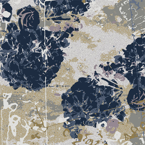 Hydrangea - Indigo: 4 wool colours, 2 silk colours and 2 blends