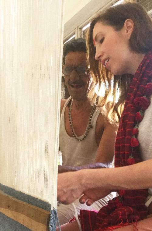 This was Ana's second trip to our Indian mills but she still loved the opportunity to get up close with the process - after all, she designs for it almost everyday.