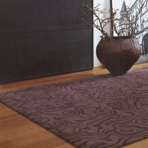Lake––another piece in the collection we developed for Jab Anstoetz Carpets of Germany––captures the movement of water with only three colours. Here we have pared back the boldness of the aubergine shades without losing the strength of the design.   Project: Jab Anstoetz collection.Photo: Jab Anstoetz