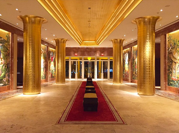 The lobby of the Faena Hotel with its 50-foot Creative Matters red carpet.Photo: Yuri Seródio