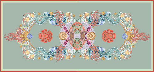 The final Creative Matters design for the spa relaxation room rug