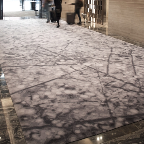 Sometimes a rug is part of a complex project and may take more than a year to complete. This handtufted rug at the award-winning Park Hyatt New York (with Yabu Pushelberg) was installed five years after our initial meeting.  Read more