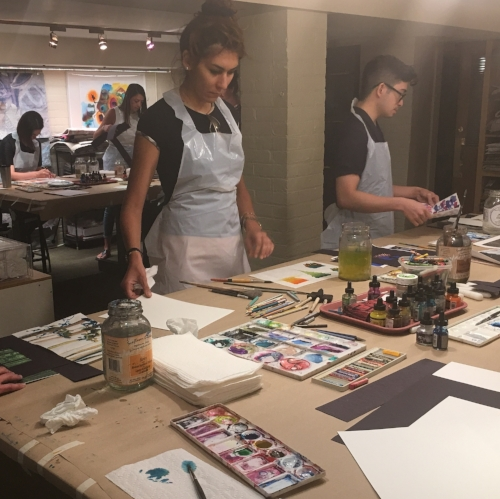 The Yabu Pushelberg team experiences our Art Day process for themselves.