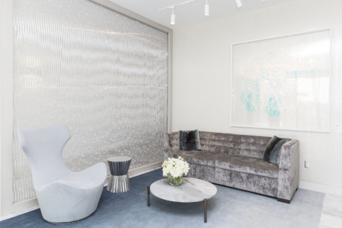 The Creative Matters personal shopper reception rug - rich texture with a subtle gradation of colour to define the setting. Photo: Jenna Marie Wakani