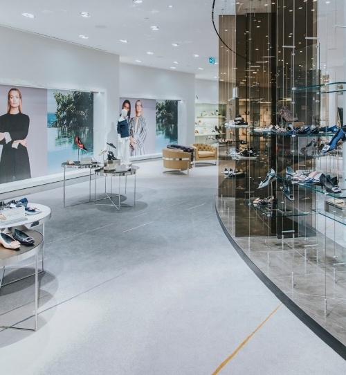 The no-repeat design realized in women's shoes at Holt Renfrew Vancouver. Photo: Evaan Kheraj