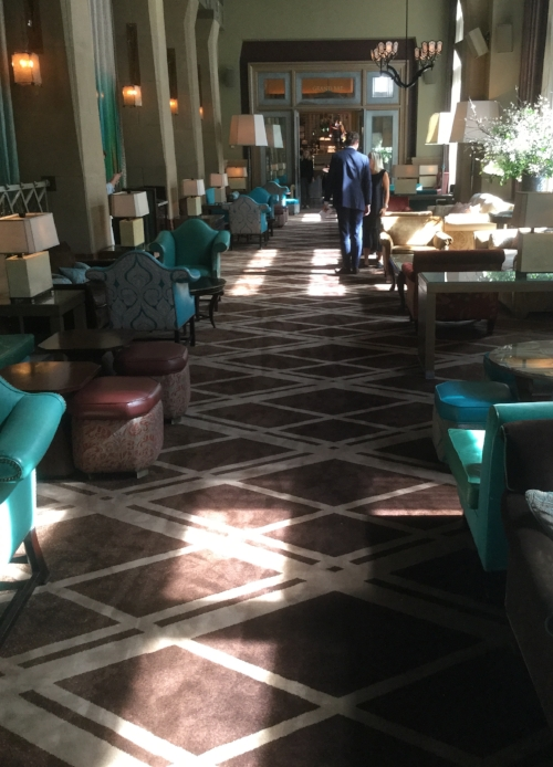 The updated Creative Matters carpet for The Salon at the Soho Grand Hotel.