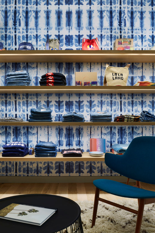 The Westside store with its custom Creative Matters wallcovering. Photo:Mikiko Kikuyama