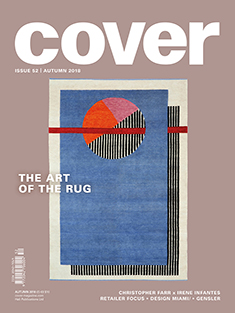 "COVER CARPETS & TEXTILES FOR MODERN INTERIORS  Autumn, 2018, ""The Loom Boom"", by Lucy Upward, pp. 138-139."