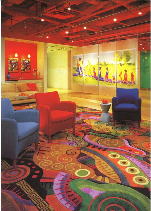 A Corus Entertainment rug with Marshall Cummings + Assoc. 1999