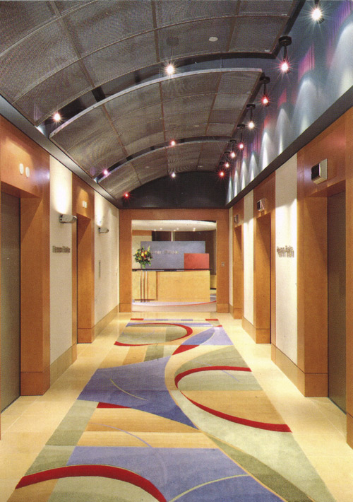 Creative Matters lobby rug for Heenan Blaikie LLP with Marshall Cummings + Assoc. 1996