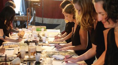 The Creative Matters team enjoying the Art Day process 2016