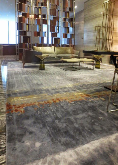 Creative Matters' rug for the Park Hyatt New York lounge with Yabu Pushelberg 2014