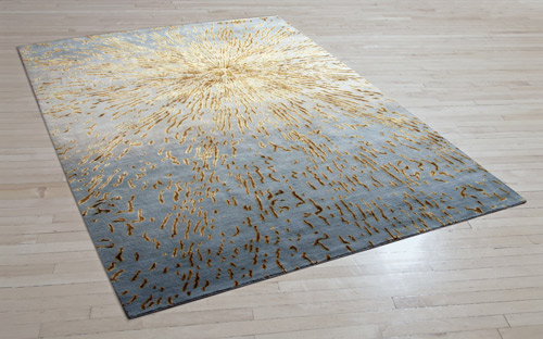 Nova - Gold from the Creative Matters Aerial Collection was the inspiration for the jewellery store carpet.